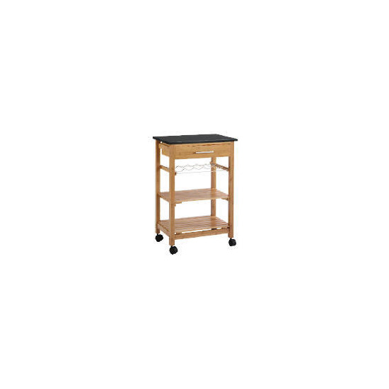Bamboo Kitchen Trolley wth Granite Top