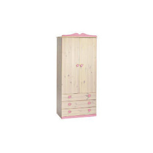 Photo of Lucy Hearts 2 Door 3 Drawer Wardrobe, White Wash Furniture