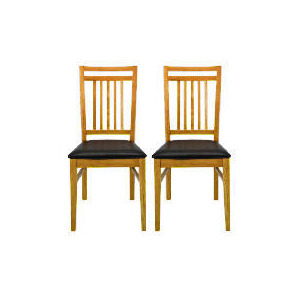 Photo of Mission Pair Of Dining Chairs, Oak Furniture