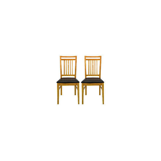 Mission Pair of Dining Chairs, Oak