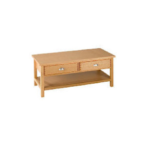 Photo of Oakland 2 Drawer Coffee Table, Oak Furniture