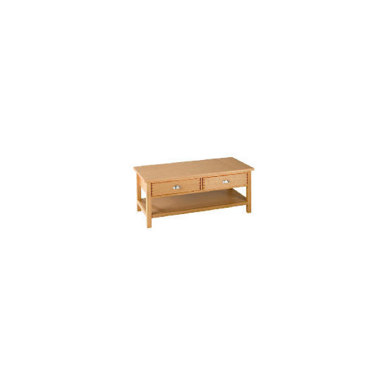 Oakland 2 Drawer Coffee Table, Oak