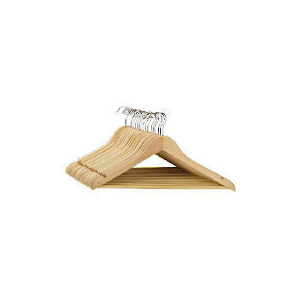 Photo of Tesco Wooden Hangers 20 Pack Home Miscellaneou