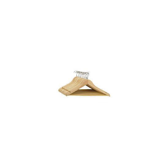Tesco Wooden hangers 20 pack