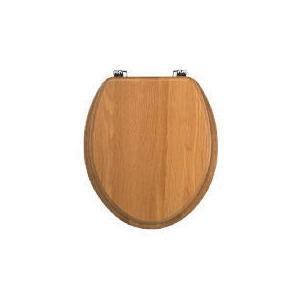 Photo of Solid Oak Toilet Seat Bathroom Fitting