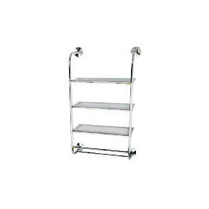 Photo of Chrome 3 Tier Wall Mounted Shelf Unit Household Storage