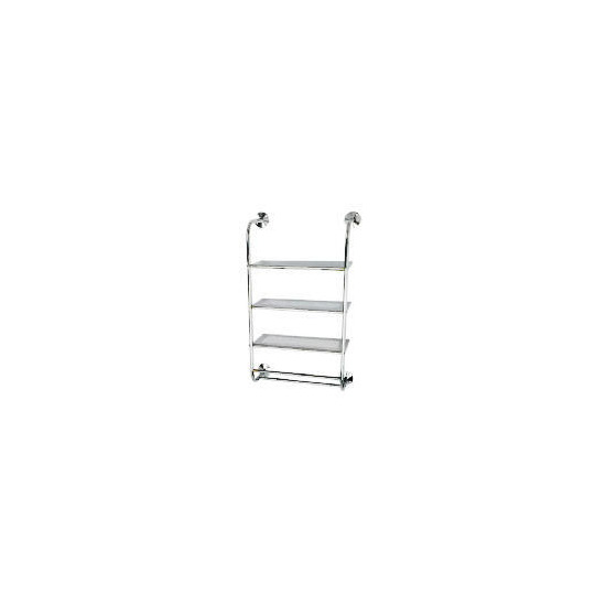 Chrome 3 Tier Wall Mounted Shelf Unit