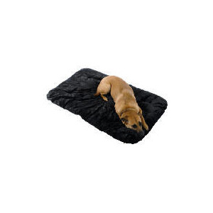 Photo of Large Deluxe Black Chenille Pet Bed Home Miscellaneou