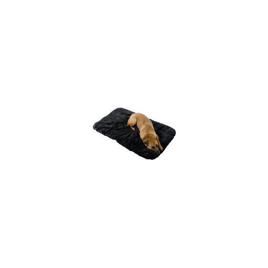 Large deluxe black chenille pet bed