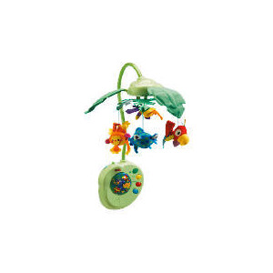 Photo of Rainforest Peek-A-Boo Leaves Musical Mobile Toy