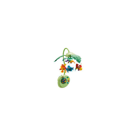 Rainforest Peek-a-Boo Leaves Musical Mobile