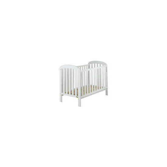 East Coast Anna  Pure White Finish Drop Side Cot