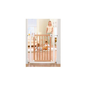 Photo of Tesco Exclusive Wood & Metal Gate - Easy Close Baby Product