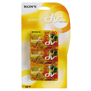 Photo of Sony Mini DV Camcorder Tape 3 Pack Camcorder Accessory
