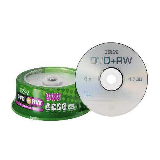 Tesco DVD+RW 25Pk