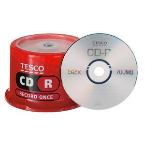Photo of Tesco CD-R 50 Pack CD R