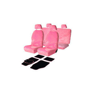 Photo of Pink Seat Covers & Pink Daisy Mats Car Accessory