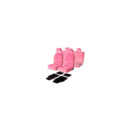 Pink Seat Covers & Pink Daisy Mats