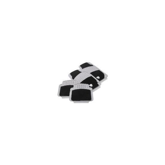 Turbo Car Mat 4 Set Black/Grey