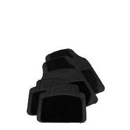 Tesco Car Mats 4 Set Rubber Carpet Black Reviews