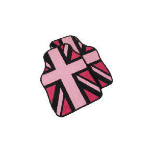 Photo of Premium Union Jack In Pink Car Mat Car Accessory