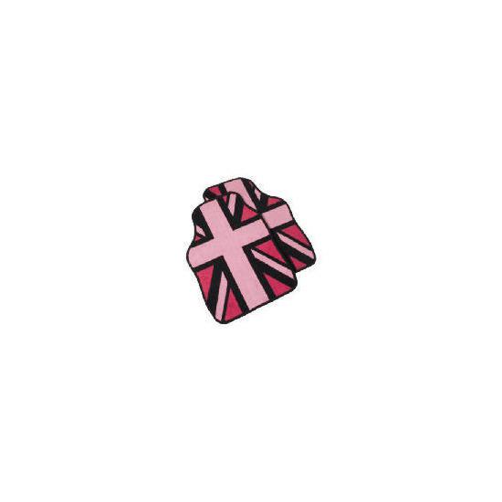 Premium Union Jack In Pink Car Mat