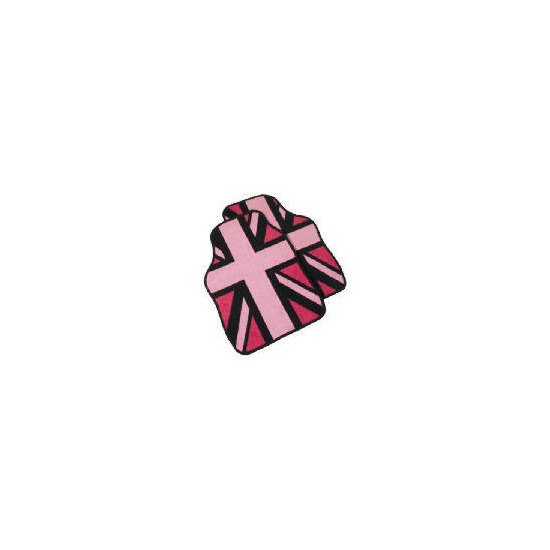Premium Union Jack In Pink Car Mat
