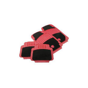Photo of Turbo Car Mat 4 Set Black/Red Car Accessory
