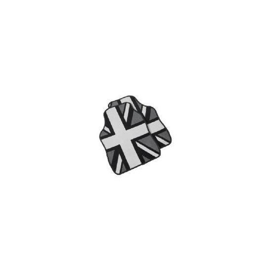 Premium Black And White Union Jack Car Mat