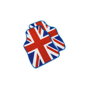 Photo of Premium Red, White  and Blue Union Jack Car Mat Car Accessory