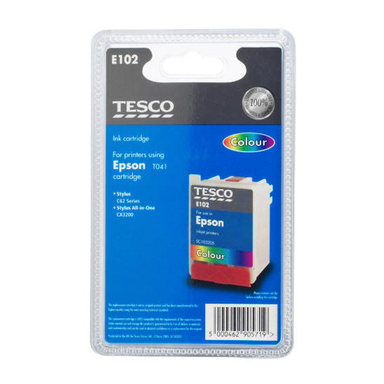Tesco E102 colour ink
