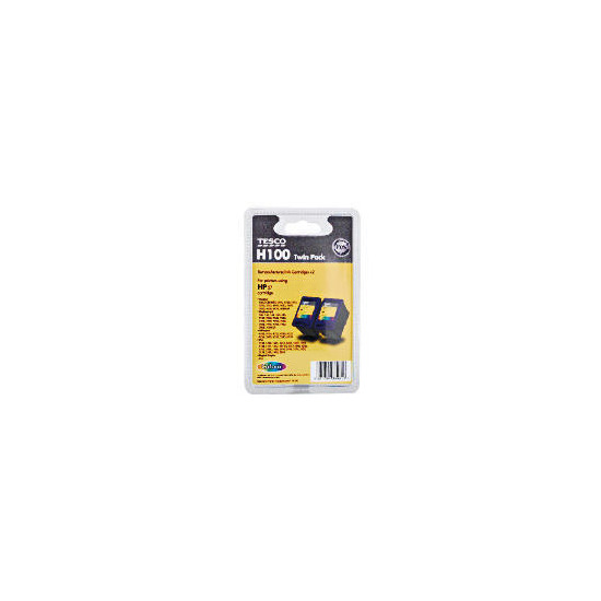 Tesco H100 remanufactured colour ink twin pack