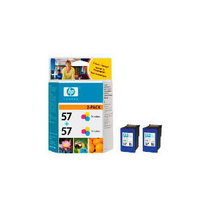 Photo of HP 57 Colour Ink Twin Pack Ink Cartridge