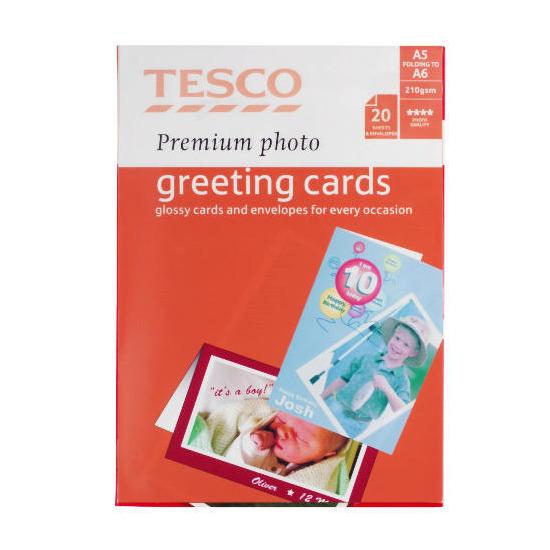 Tesco premium photo greeting card 20 sheets