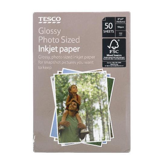 Tesco 6x4 photo paper 50 sheets