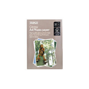 Photo of Tesco A4 Photo Paper 50 Sheets Stationery