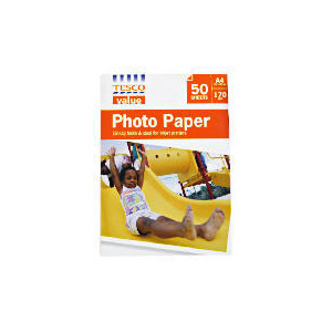 Photo of Tesco Value A4 Photo Paper 50 Sheets Photo Paper
