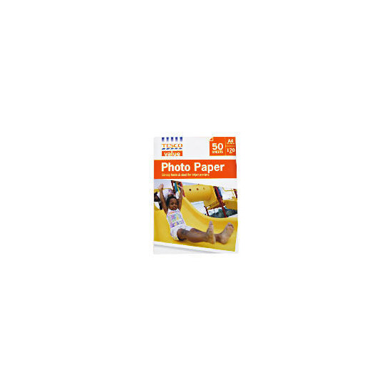 Tesco Value A4 photo paper 50 sheets