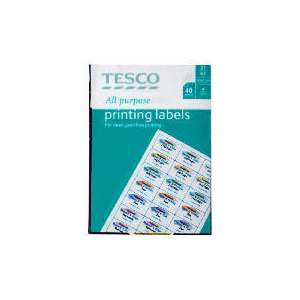 Photo of Tesco All Purpsose Labels Label