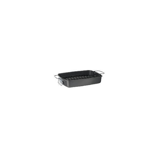 Tesco Professional roasting pan with rack and handles 36x25.5