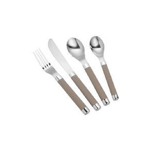 Photo of Tesco Soft Touch Cutlery Set 16 Pieces - Cream Dinnerware