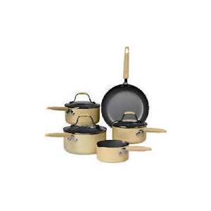Photo of Prestige Country Kitchen 5 Piece Set,  Almond Cookware