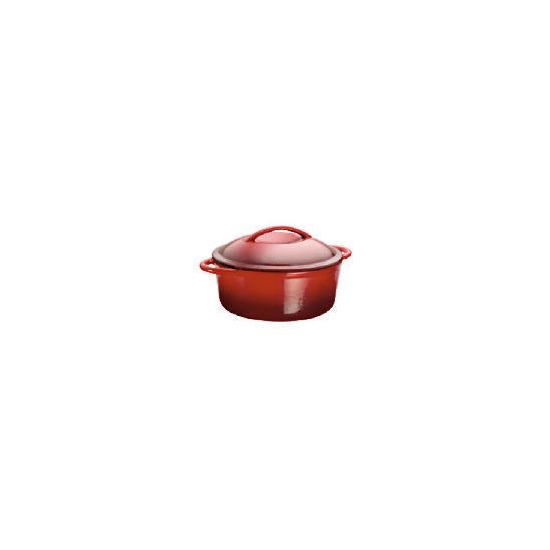 Tesco Finest Cast Iron 22cm Stockpot Red
