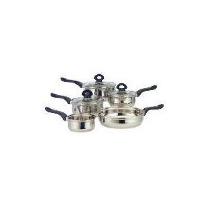 Photo of Swan Stainless Steel 5 Piece Pan Set With Bakelite Handles Cookware