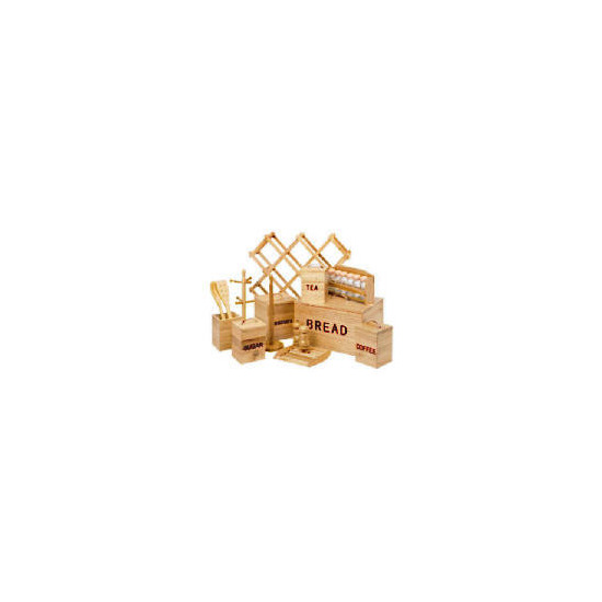 21 Piece Wood Storage Set