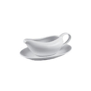 Photo of Tesco White Porcelain Gravy Bowl Dinnerware