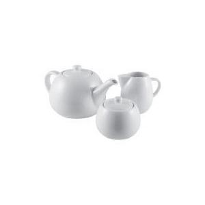 Photo of Tesco White Porcelain Teapot Dinnerware