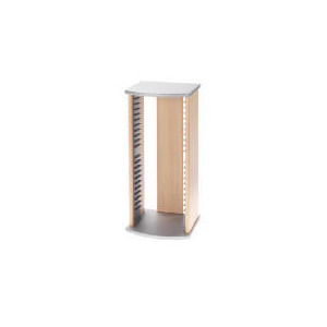 Photo of Silver & Maple Effect CD Storage Unit CD and DVD Storage