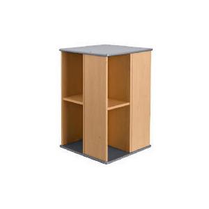 Photo of Oscar Beech Effect Rotating CD/DVD Storage Unit Furniture