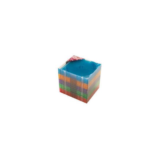 Tesco CD Coloured Cases 25 Pack